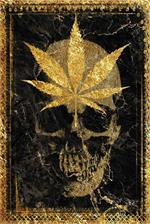 Gold Leaf Skull by Daveed Benito Poster Image