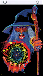 Mystic Wizard Blacklight Reactive Fly Flag Image
