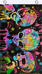 Aliens by Dean Russo Blacklight Reactive Fly Flag Image